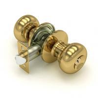 Ручка защелка Fuaro 682 с фиксатором и ключом золото