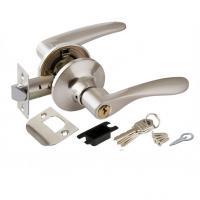 Ручка защелка Punto 6020 с фиксатором и ключом мат. никель