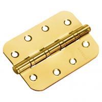 Петля стальная универсальная скругленная Morelli MS-C 100X70X2.5-4BB мат. золото