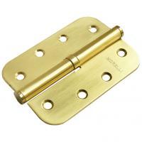 Петля стальная разъёмная скругленная Morelli MSD-C 100X70X2.5 мат. золото