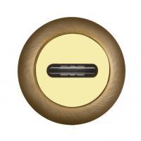 Накладка под сувальдный ключ Fuaro SC-RM бронза/золото