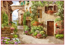 фото фрески «Итальянская улочка» в магазине «Аркон»