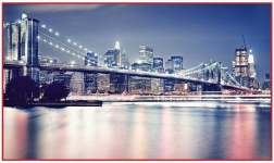 фреска «Бруклинский мост» в магазине «Аркон» Кириши