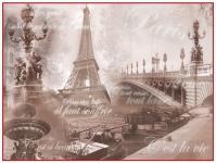 фреска «Коллаж-Париж» в магазине «Аркон» Кириши