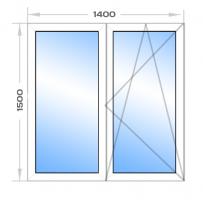 Окно 2-х створчатое (к)