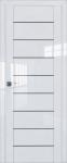 Двери 45L-белый люкс-стекло графит
